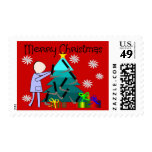 Respiratory Therapist Funny Christmas Cards Stamp