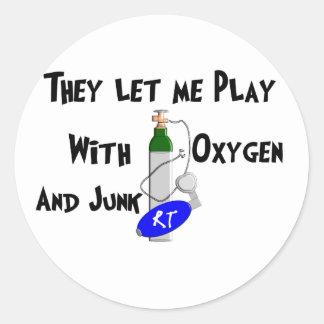 Respiratory Therapist Funny Gifts Classic Round Sticker