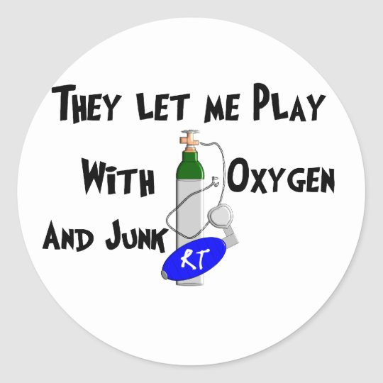 Respiratory Therapist Funny Gifts Classic Round Sticker