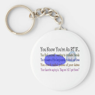Respiratory Therapist Gifts Basic Round Button Keychain