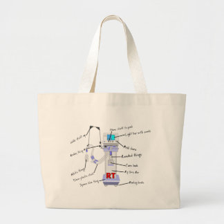 Respiratory Therapist Gifts Large Tote Bag