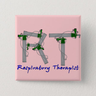 Respiratory Therapist Gifts O2 Tank Design Pinback Button