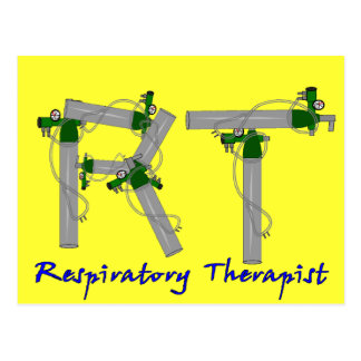 Respiratory Therapist Gifts O2 Tank Design Postcard