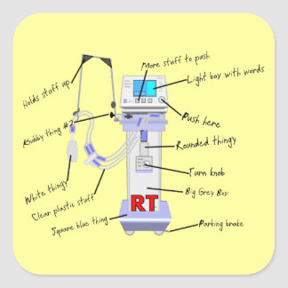 Respiratory Therapist Gifts Square Sticker