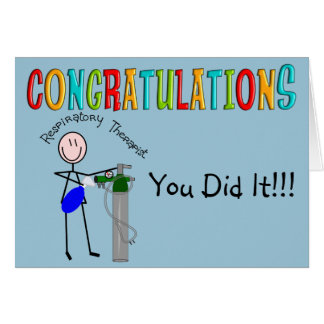 Respiratory Therapist Graduation Congrats Card