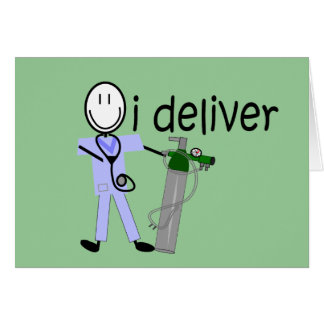 """Respiratory Therapist """"I Deliver""""  (Oxygen) Card"""