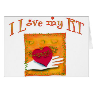 "Respiratory Therapist ""I LOVE MY RT"" Gifts Card"