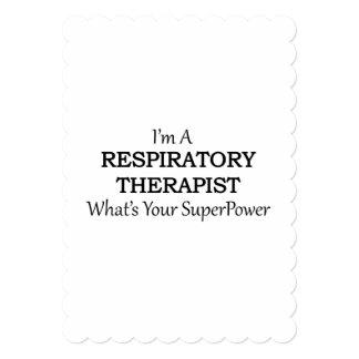 RESPIRATORY THERAPIST 5X7 PAPER INVITATION CARD