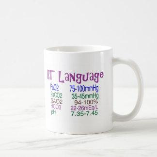 """Respiratory Therapist """"language"""" Blood Gasses Coffee Mug"""