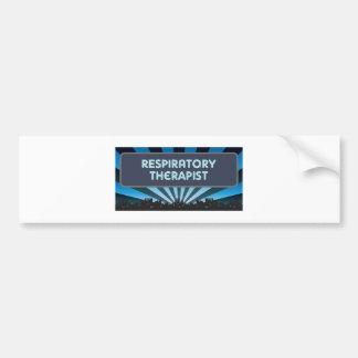 Respiratory Therapist Marquee Car Bumper Sticker