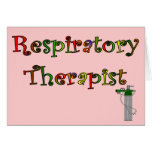 Respiratory Therapist O2 Tank Design Greeting Cards