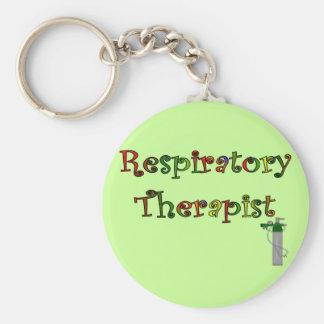 Respiratory Therapist O2 Tank Design Basic Round Button Keychain