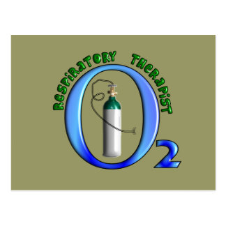 Respiratory Therapist O2 Tank Design Postcard