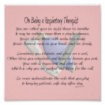Respiratory Therapist Poem/Poster Poster