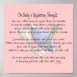 Respiratory Therapist Poem/Poster Poster