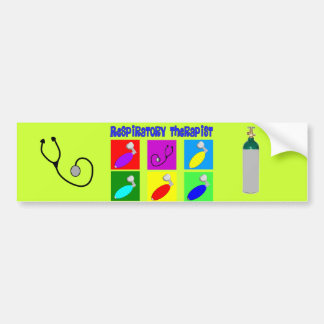 Respiratory Therapist Pop Art Design Gifts Car Bumper Sticker