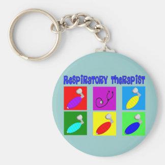 Respiratory Therapist Pop Art Design Gifts Basic Round Button Keychain