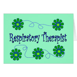 Respiratory Therapist Retro Flowers Design Greeting Card