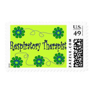 Respiratory Therapist Retro Flowers Design Postage