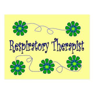 Respiratory Therapist Retro Flowers Design Post Cards