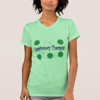 Respiratory Therapist Retro Flowers Design T-Shirt