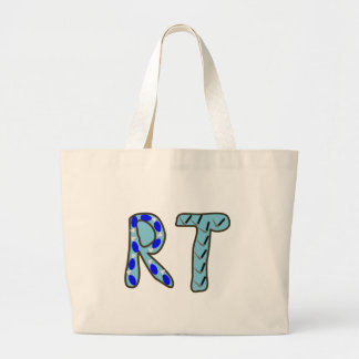 "Respiratory Therapist ""RT"" Large Tote Bag"