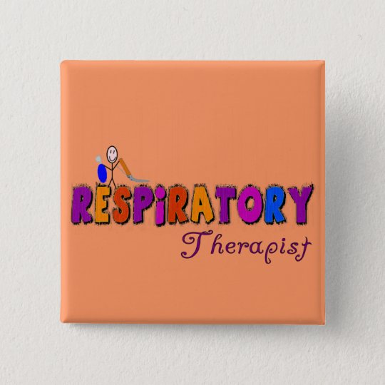 Respiratory Therapist Stickman Gifts Button