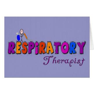 Respiratory Therapist Stickman Gifts Card