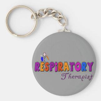 Respiratory Therapist Stickman Gifts Basic Round Button Keychain