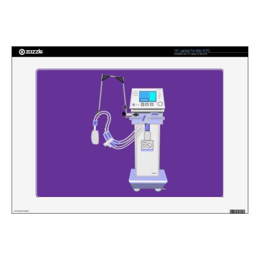 "Respiratory Therapist Ventilator Design Decal For 15"" Laptop"