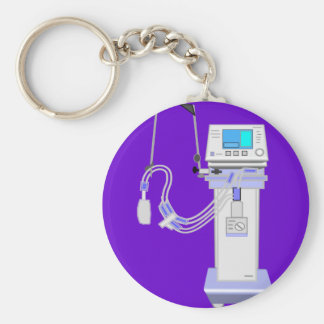 Respiratory Therapist Ventilator Design Keychain