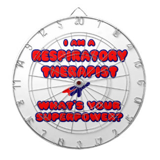 Respiratory Therapist .. What's Your Superpower? Dartboard With Darts