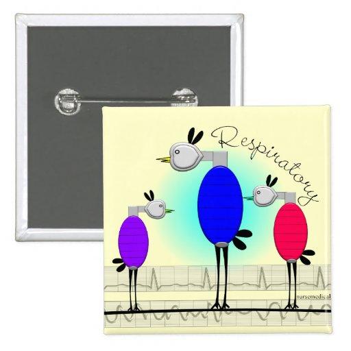 """Respiratory Therapy """"Ambu Birds"""" Gifts Button"""