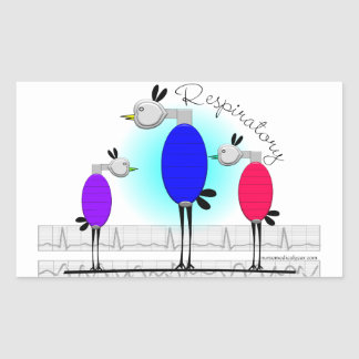 "Respiratory Therapy ""Ambu Birds"" Gifts Rectangular Sticker"