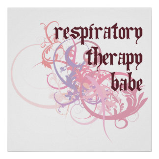 Respiratory Therapy Babe Poster