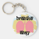 Respiratory Therapy Breathe Easy Lungs Keychain RT