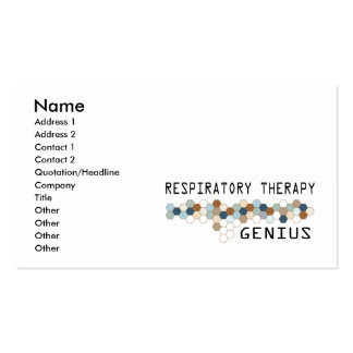Respiratory Therapy Genius Business Card
