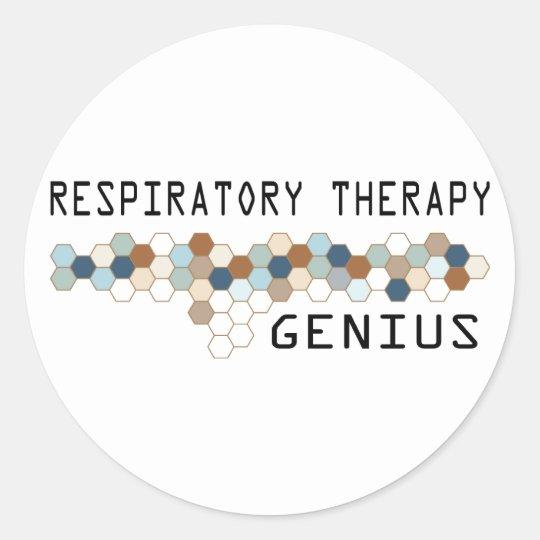 Respiratory Therapy Genius Classic Round Sticker