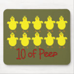 """Respiratory Therapy Gifts """"10 of PEEP""""  Funny Mouse Mat"""