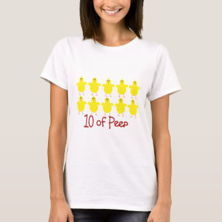 """Respiratory Therapy Gifts """"10 of PEEP""""  Funny T-Shirt"""