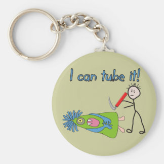 """Respiratory Therapy Gifts """"I Can Tube it!"""" Key Chain"""