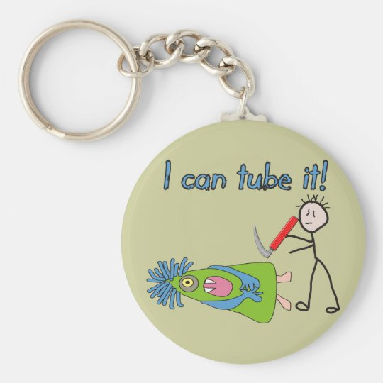 """Respiratory Therapy Gifts """"I Can Tube it!"""" Keychain"""