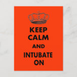 """Respiratory Therapy Gifts """"Keep Calm and..."""" Postcard"""