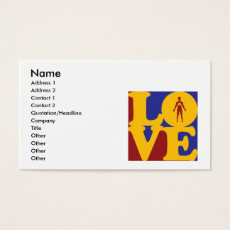 Respiratory Therapy Love Business Card