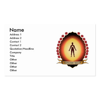 Respiratory Therapy Mandorla Business Card