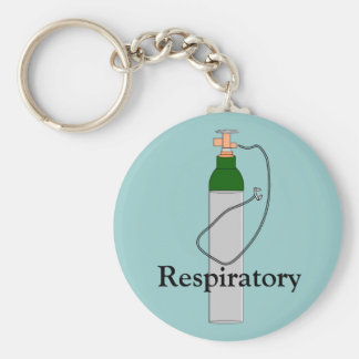 Respiratory Therapy Oxygen Tank Design Keychain