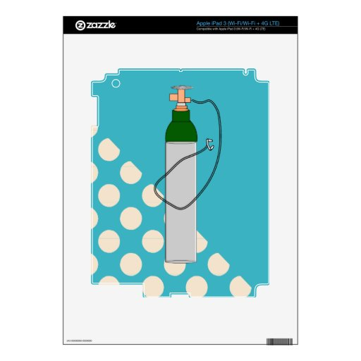 Respiratory Therapy Oxygen Tank Decals For iPad 3