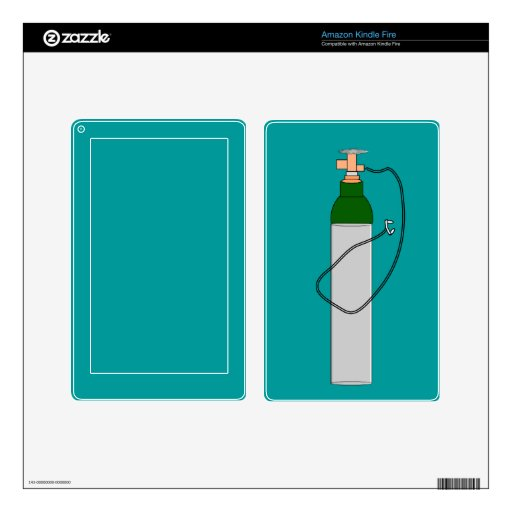 Respiratory Therapy Oxygen Tank Skin For Kindle Fire