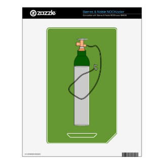 Respiratory Therapy Oxygen Tank Skins For The NOOK Color