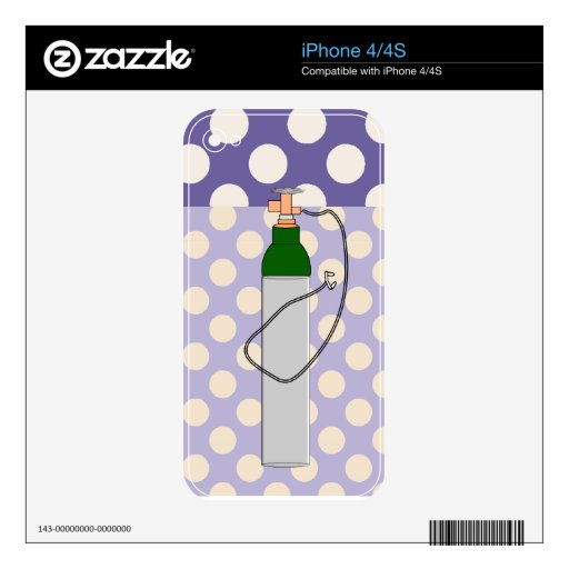 Respiratory Therapy Oxygen Tank iPhone 4S Decal